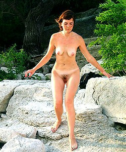 Erotic nature girl