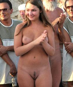 Charming naked babe
