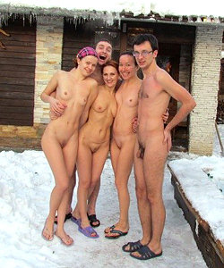 Naked guys in winter