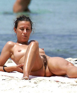 Amazing jugs on the nude beach
