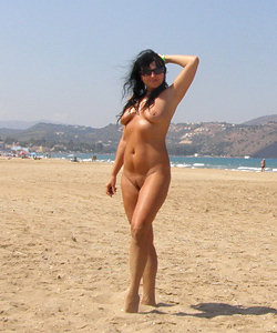 Lovely shoots from nude beach