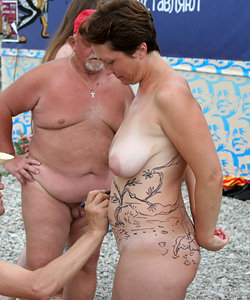 Nude festival on the beach