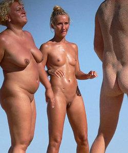 Nudists getting fun