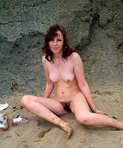 Nudists in the sand